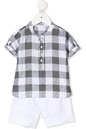 Il gufo Checked shirt and short set
