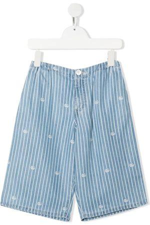 Gucci Pinstripe-print knee-length shorts