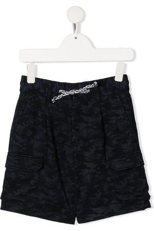 Emporio Armani Camouflage-print drawstring-fastening shorts