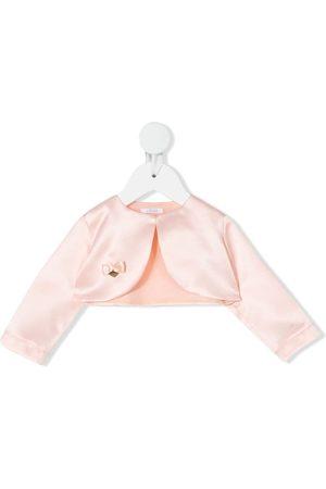 Le Bebé Enfant Bow-detail bolero jacket