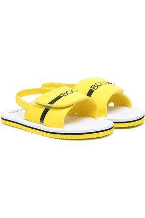 HUGO BOSS Slingback logo-print sandals