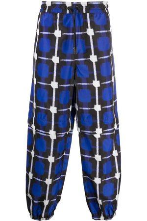MARCELO BURLON Check-print track pants