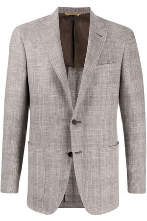 CANALI Fitted checked blazer