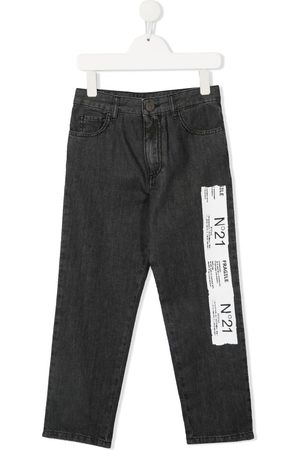 Nº21 Straight-leg logo patch jeans