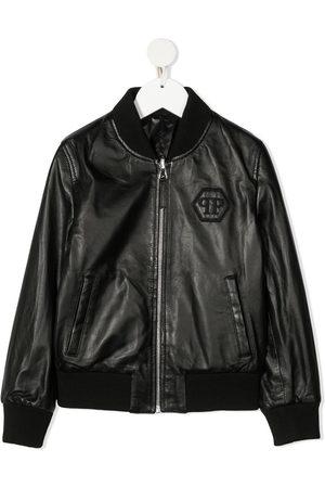 Philipp Plein Embroidered logo bomber jacket