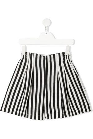 MONNALISA Box-pleat striped shorts