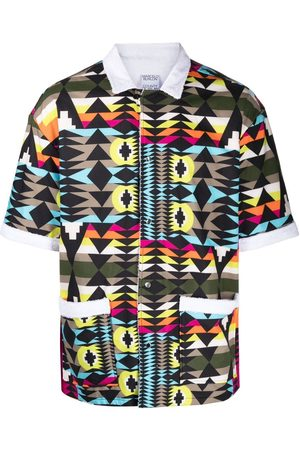 MARCELO BURLON Geometric-print short-sleeve shirt