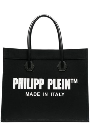 Philipp Plein Dames Shoppers - Logo print shopper tote