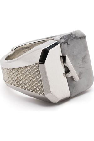 AMBUSH Misfit panelled signet ring