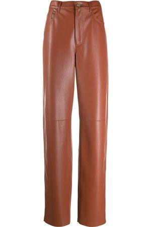 Nanushka Radha leather straight-leg trousers