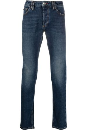 Philipp Plein Logo-patch slim-fit jeans