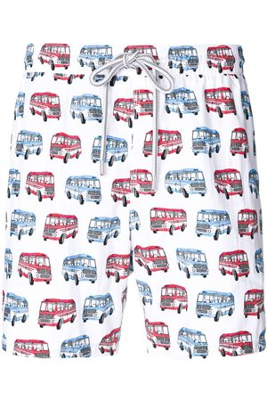 CAPRICODE Bus print swim shorts