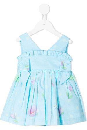 Lapin House Floral-print bow-detail dress