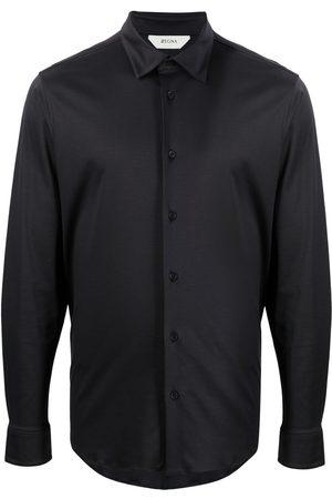 Z Zegna Long-sleeved cotton shirt