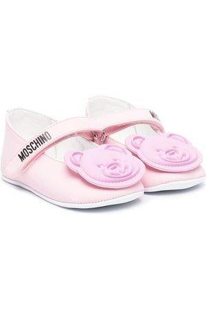 Moschino Teddy bear motif ballerina shoes