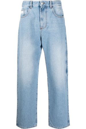GCDS Heren Straight - Logo-patch straight-leg jeans