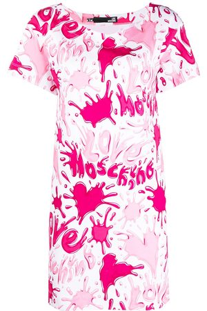 Love Moschino Paint splatter-print T-shirt