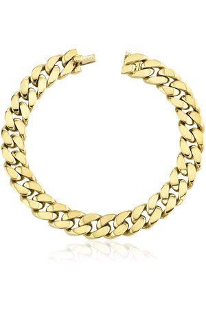 Shay 18kt yellow flat link bracelet