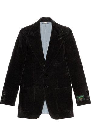 Gucci Velvet single-breasted blazer