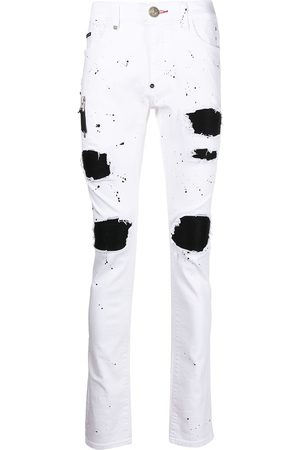 Philipp Plein Biker Destroyed skinny jeans