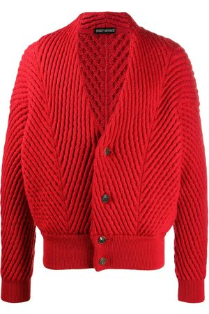 Issey Miyake 2000s chunky knit textured cardigan