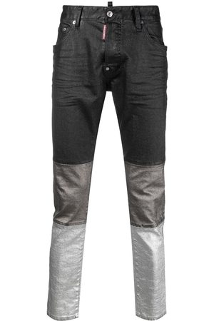 Dsquared2 Panelled slim-leg jeans