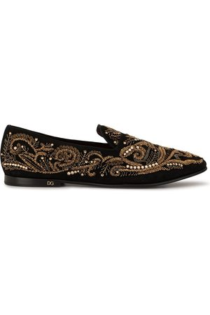 Dolce & Gabbana Bead embroidered slippers