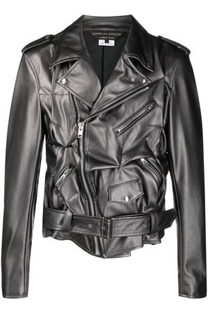 Comme des Garçons Crushed artificial leather jacket