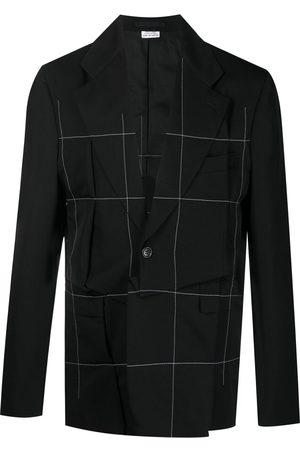 Comme des Garçons Contrast stitch asymmetric blazer