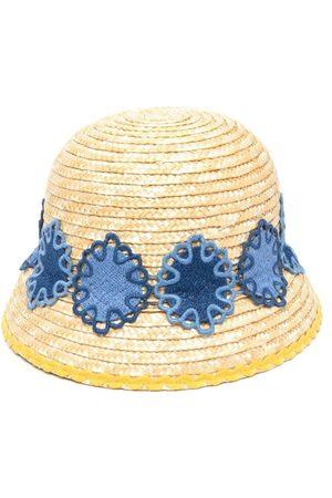 Mimisol Embroidered straw sun hat