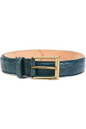 LISKA Heren Riemen - Textured style buckle belt