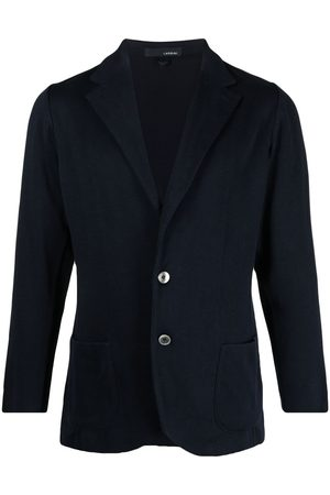 LARDINI Notched-lapels single-breasted blazer