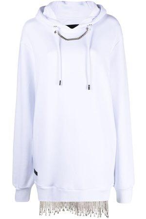 Philipp Plein Crystal-embellished sweatshirt dress