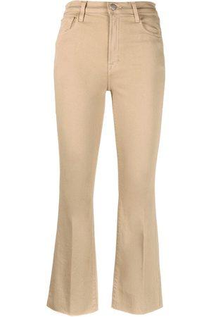 J Brand Kick flared cropped trousers