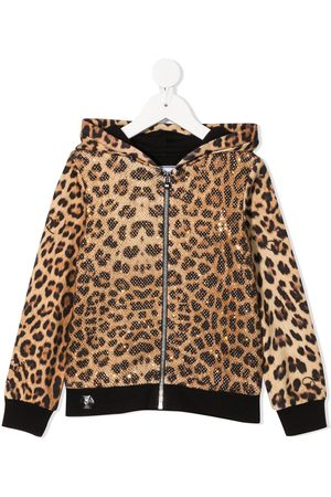 Philipp Plein Meisjes Hoodies - Leopard-print hoodie
