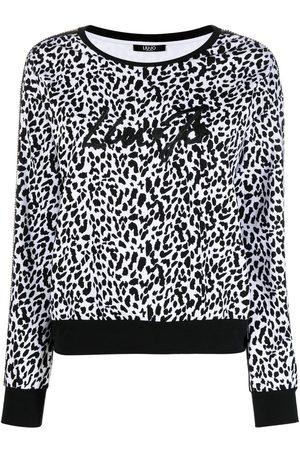 Liu Jo Embroidered leopard-print sweatshirt