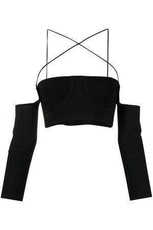 AMBUSH Dames Crop Top - Fine-knit strappy crop top