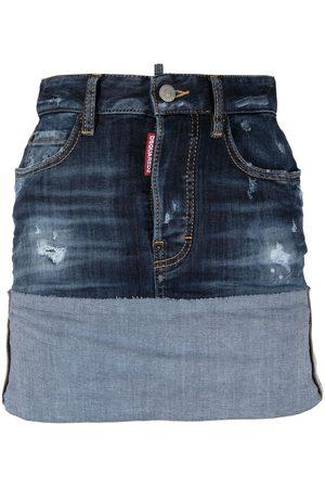 Dsquared2 Dames Jeansrokken - Turn up denim skirt