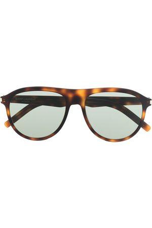 Saint Laurent Tortoiseshell-effect tinted sunglasses