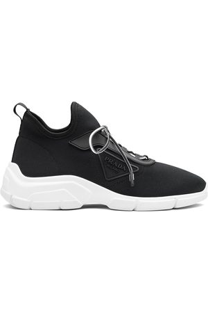 Prada Knit lace-up sneakers