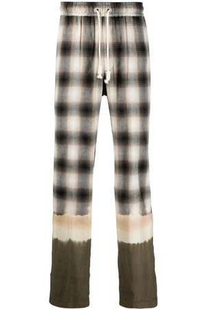 Palm Angels Heren Joggingbroeken - Bleached plaid track pants