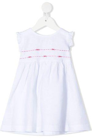 Mariella Ferrari Embroidered-detail sleeveless dress