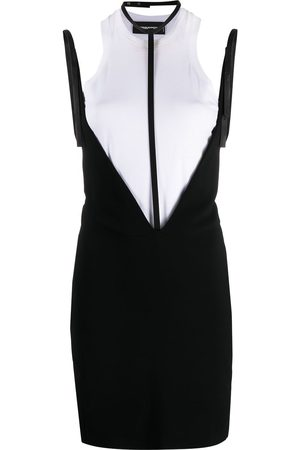 Dsquared2 Layered harness-detail dress