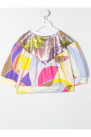 Emilio Pucci Abstract-print sequinned top