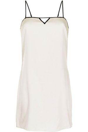 FLEUR DU MAL Keyhole-embellished slip dress