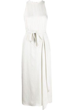 Vince Dames Mouwloze jurken - Sleeveless tie-waist dress