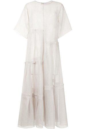 SHATHA ESSA Lightweight multi-tiered dress