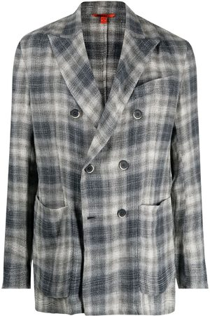 BARENA Heren Blazers - Checked double-breasted blazer