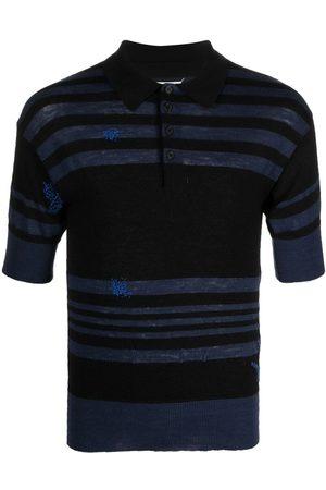 Maison Margiela Striped knitted polo shirt