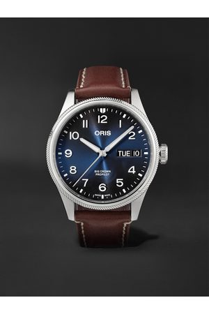 Oris Big Crown ProPilot Big Day Date Automatic 44mm Stainless Steel and Leather Watch, Ref. No. 01 752 7760 4065-07 5 22 07LC